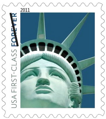 photo error postal service fined for lady liberty stamp blunder