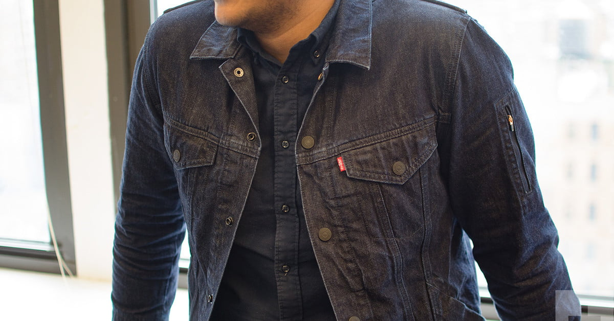 Levi/Google's smart jacket, Jacquard, allows users to control their phone with gestures