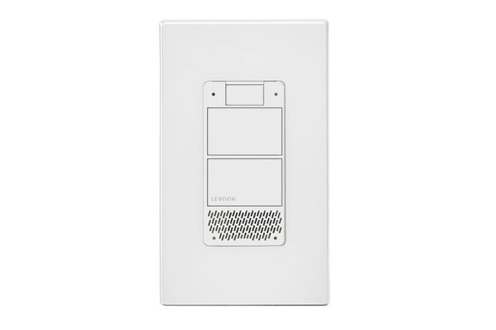 leviton voice dimmer switch wall outlets alexa ces 2019 decora light press