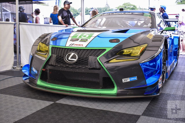Detail shot of the frontside of the Lexus RC F GT3