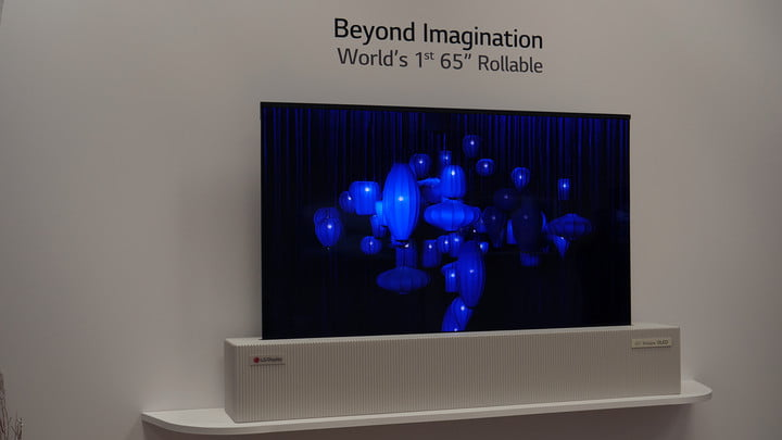 lg 65 inch rollable uhd oled ces video 3