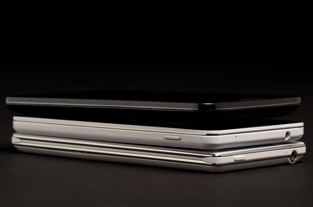 LG G2 Phone stacked comparison