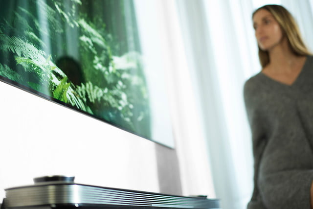 LG's 77-inch Wallpaper OLED TV W7 Series Angle