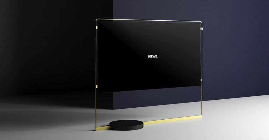 loewe 39 s bild x oled tv is magnetically suspended in a. Black Bedroom Furniture Sets. Home Design Ideas