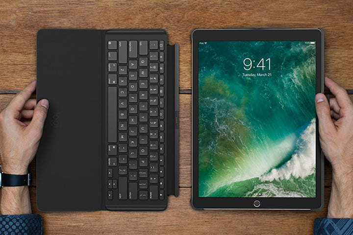 best iPad Pro 10.5 cases - Logitech Slim Combo Keyboard Case for The Best Cases and Covers Style Protection