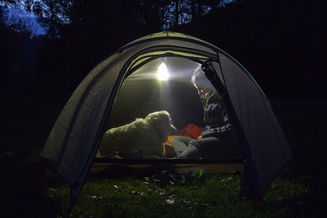 the luminoodle is a portable led light strip tent lantern mode