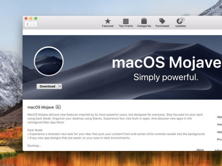 how to install macos mojave