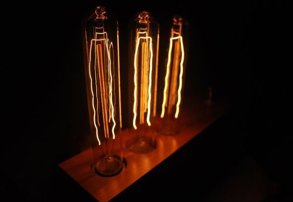 harken back to the days of edison with these menlo park lamps