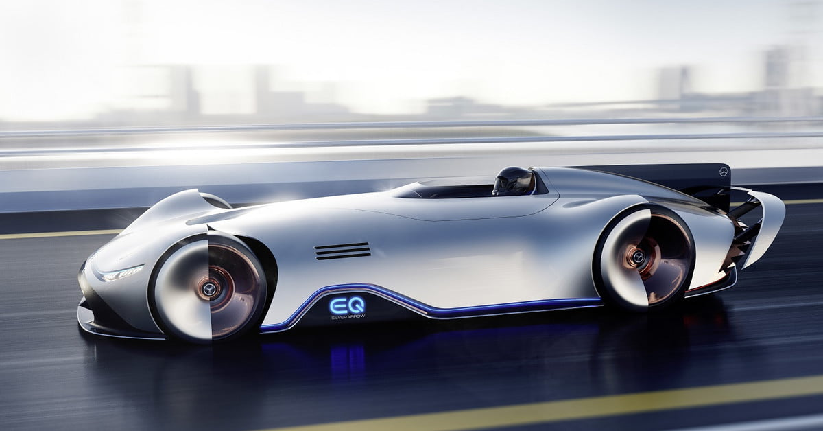 Mercedes Benz Eq Silver Arrow Concept Blends Heritage And Future