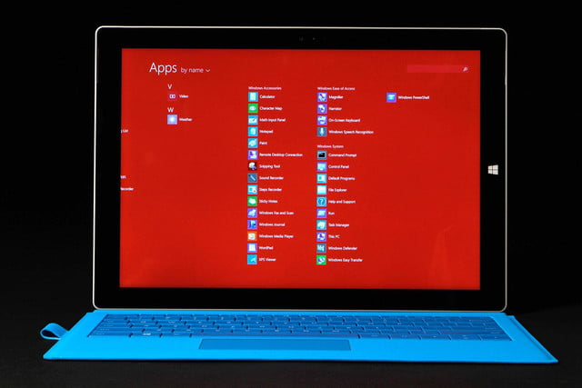 Microsoft SURFACE Pro 3 apps