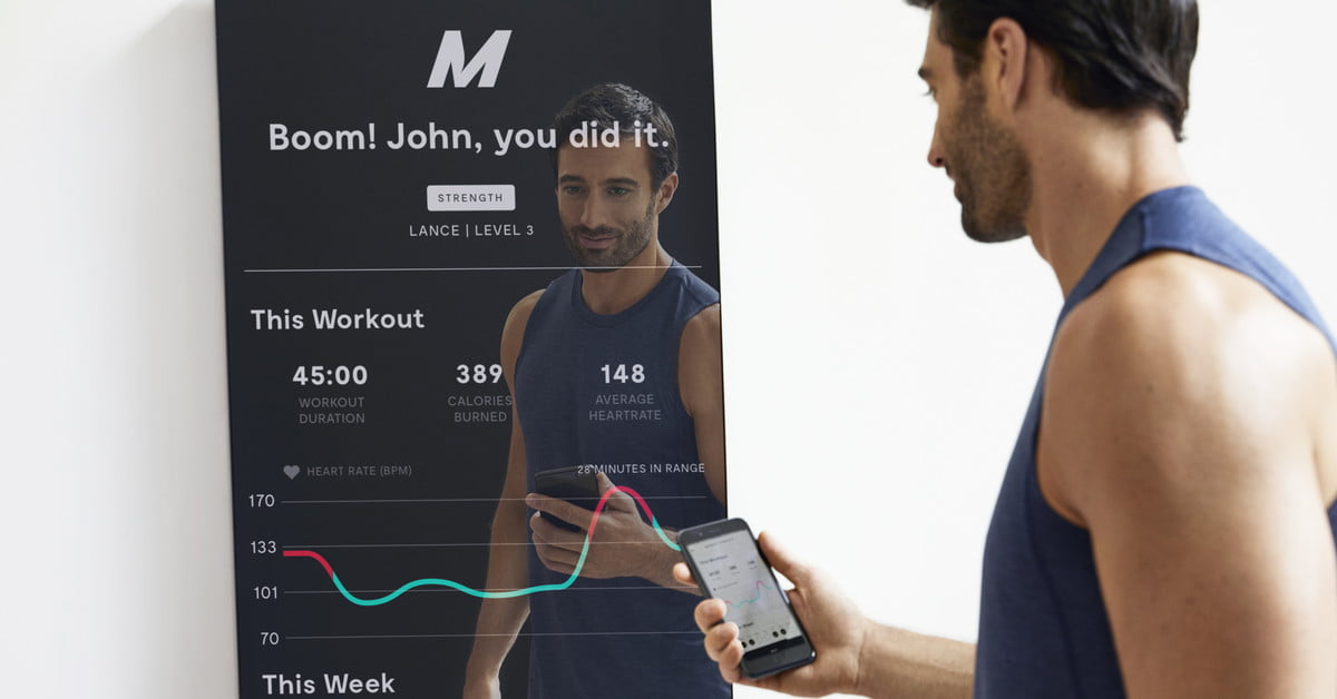 1 500 Smart Mirror Puts The Gym And Trainer In Your Living Room Digital Trends