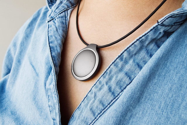 Misfit Shine Fitness Tracker wearing_necklace
