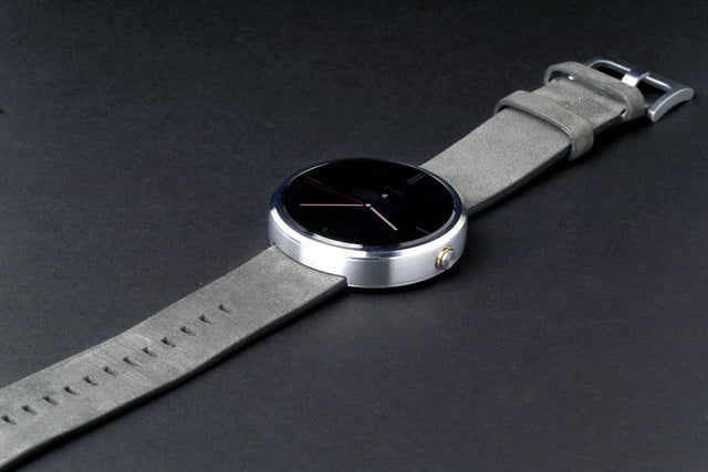 Moto 360 Watch front angle