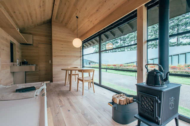 the muji hut is a micro home made for japan of wood 01