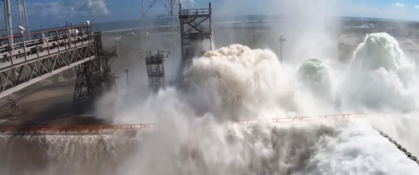 Watch the 'cool' moment NASA releases 450,000 gallons of water