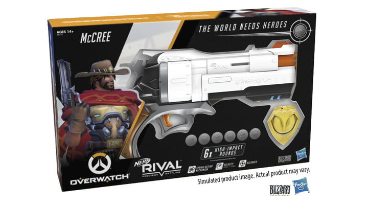 overwatch mccree nerf blaster announced rival edition box pack front
