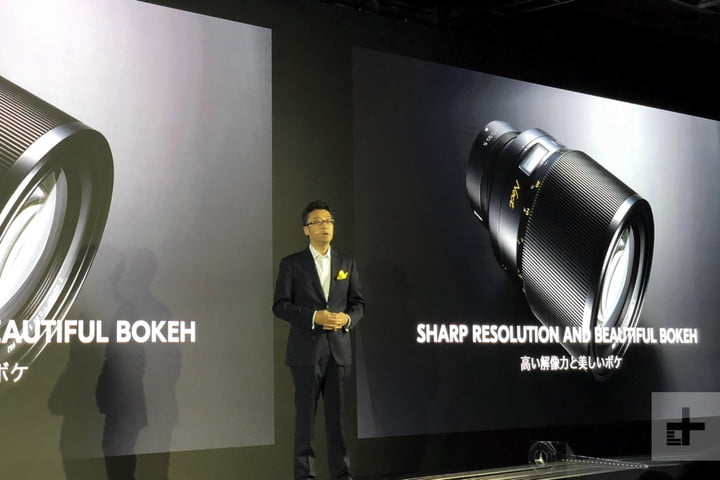 Hiroyuki Ikegami, the corporate vice president and sector manager of Development Sector, Imaging Business Unit at Nikon Corporation, talks about the new Z lenses during their official launch on April 23, in Tokyo.