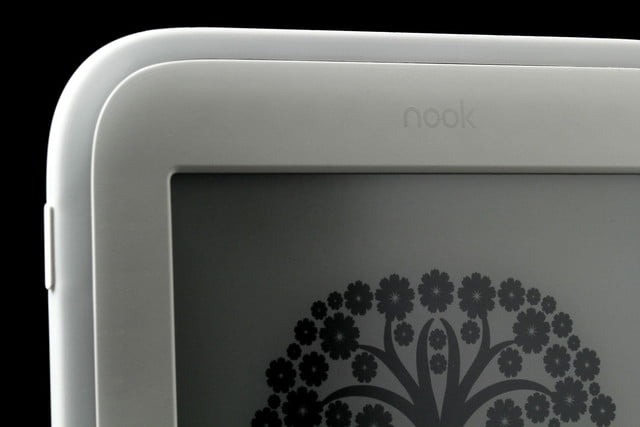 NOOK Glow top screen corner