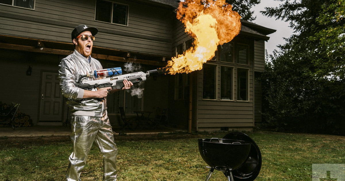 Cooking with the 'Not-a-Flamethrower'