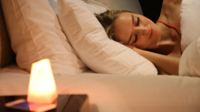 notti smart lamp lights up with notifications alarm