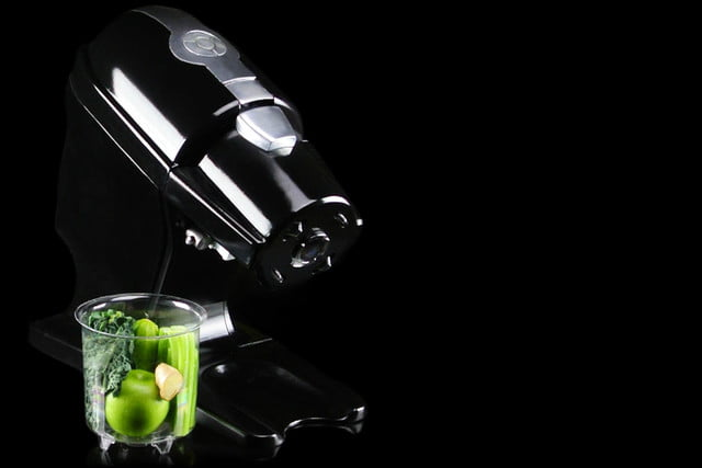 the nutralux is a pod based cold press juicer for home with nutrapod