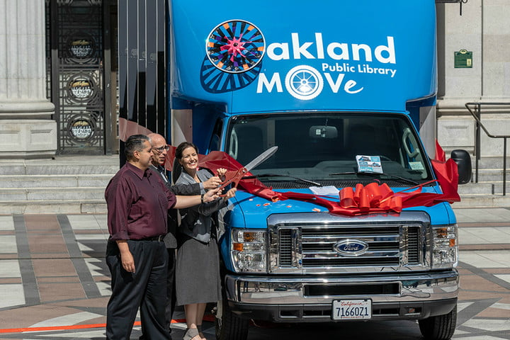 winnebago electric bloodmobile oakland move ribbon cutting