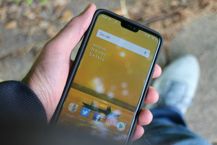 how to hide the notch oneplus 6 ground