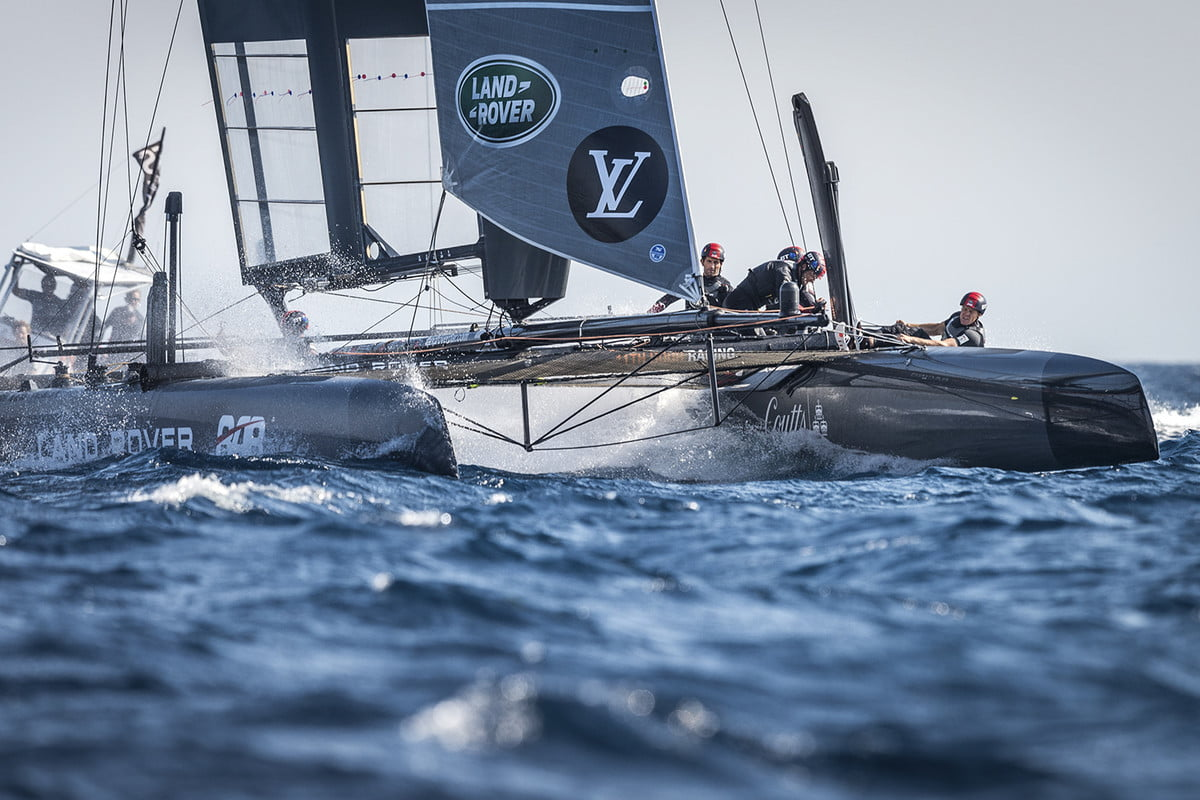 land rover bar americas cup yacht race open sail day  1 of louis vuitton america s world series toulon