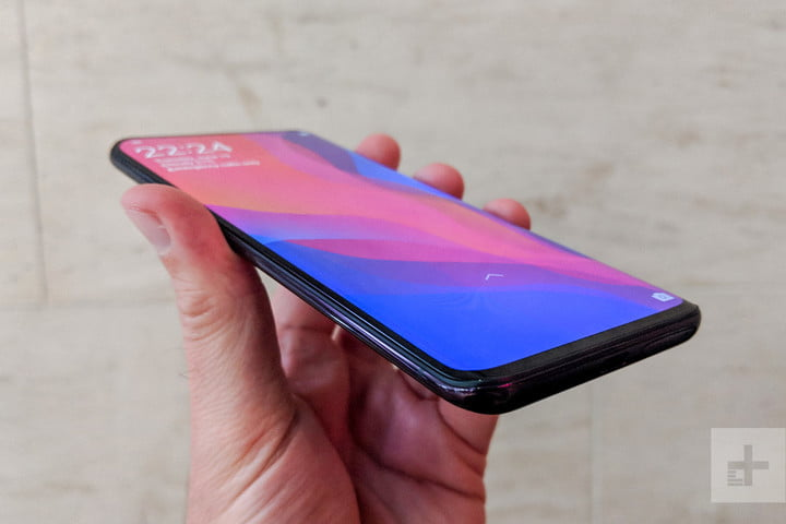 oppo find x hands on top angle