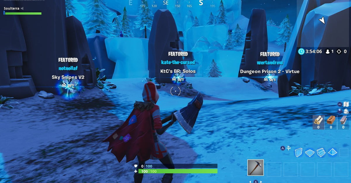 fortnite season 7 overtime challenge guide collect 15 coins in creative mode gaming academies - how to use creative mode fortnite