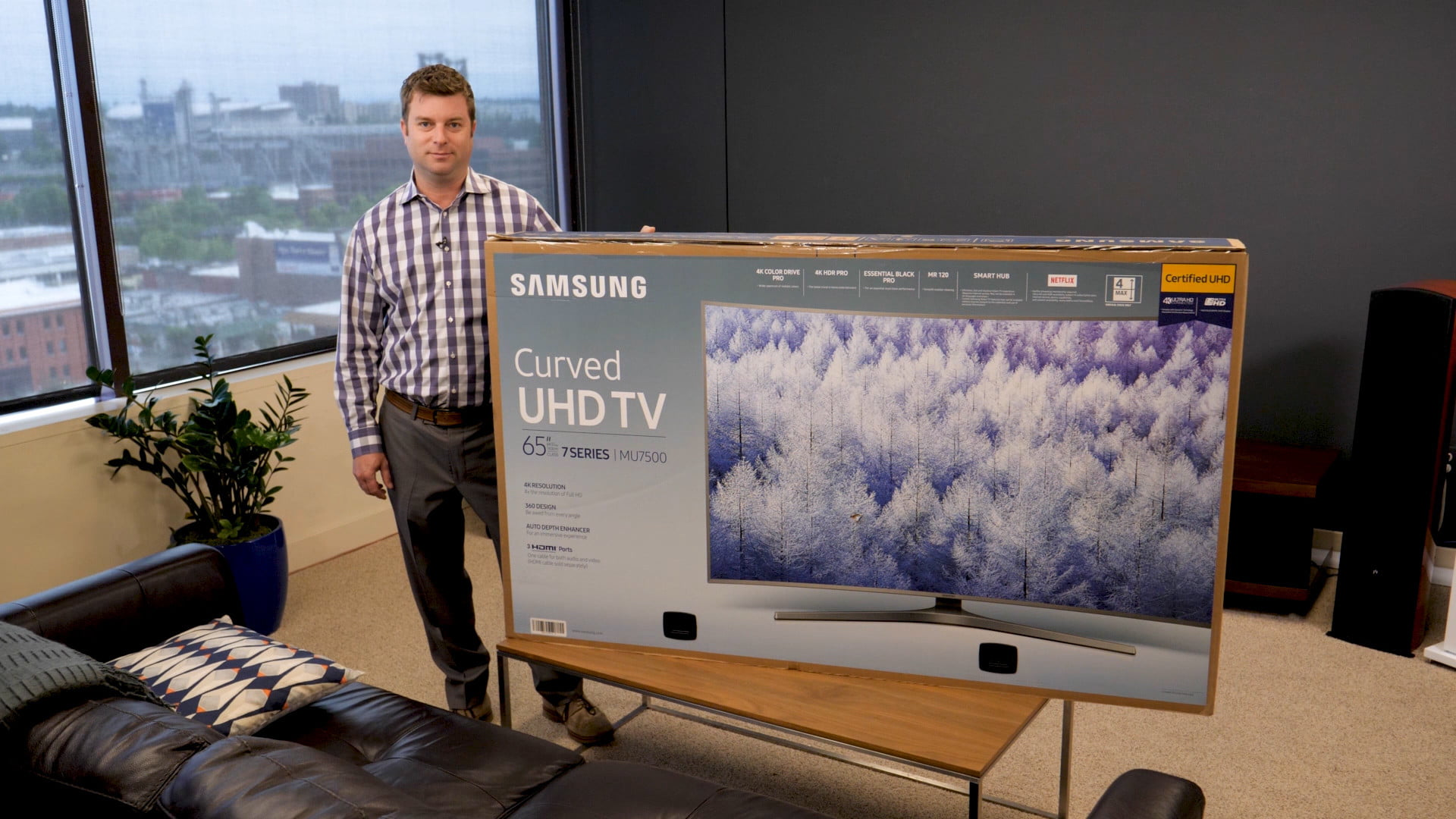 Samsung Mu7500 Unboxing And Setup How To Get It Ready To Watch