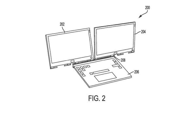 dell laptop two detachable displays patent 1