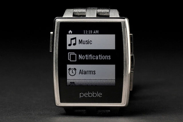 Pebble Steel Watch front screen