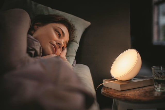 philips hue go is a nifty looking portable led light bed