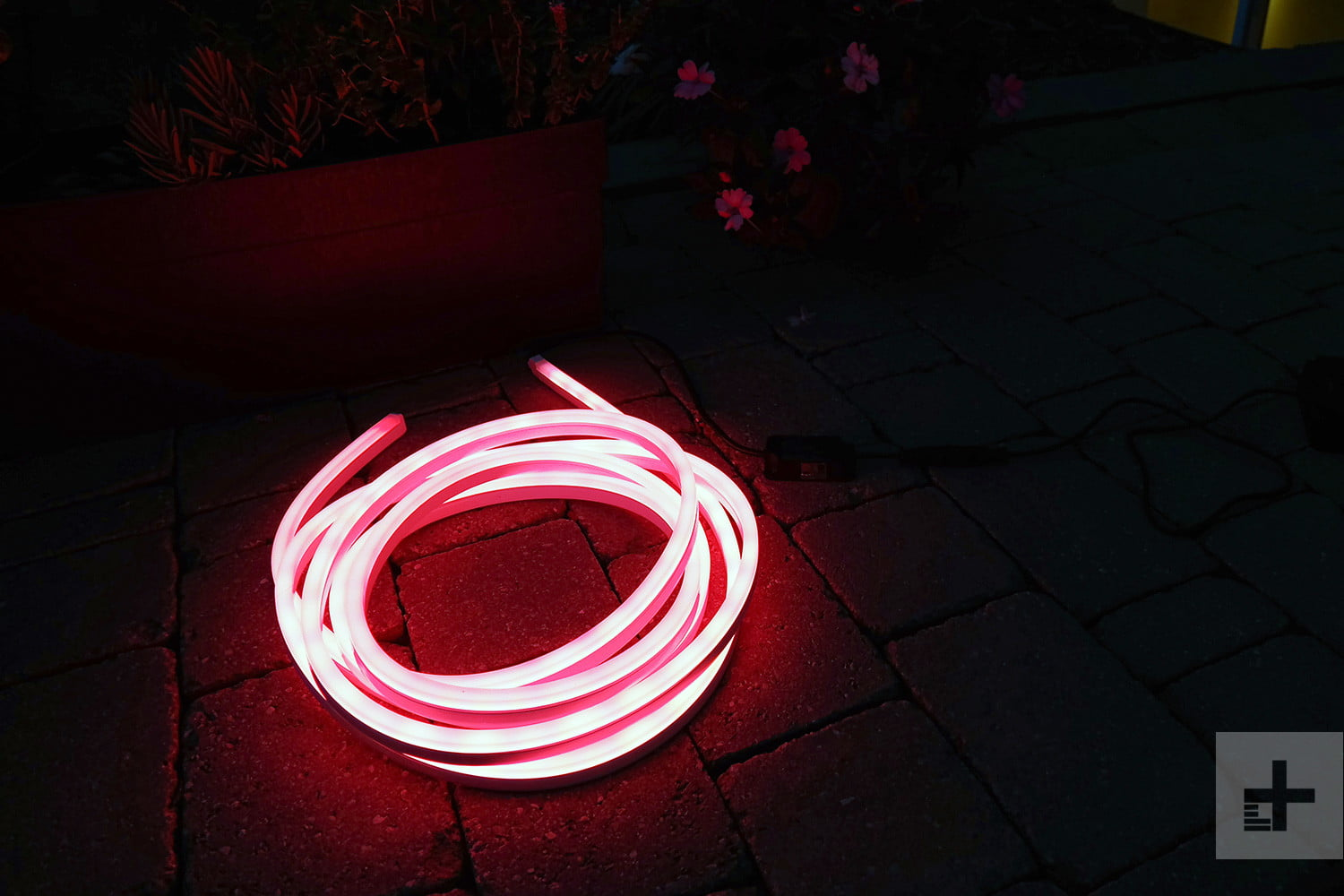 Philips Hue Lightstrip Outdoor Review Digital Trends An Light Fixture Wiring In Addition Led Lighting Lighstrip Coiled Red