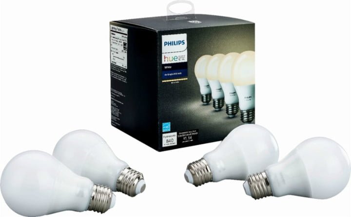 best buy black friday early deals philips  hue white a19 wi fi smart led bulb 4 pack ca only