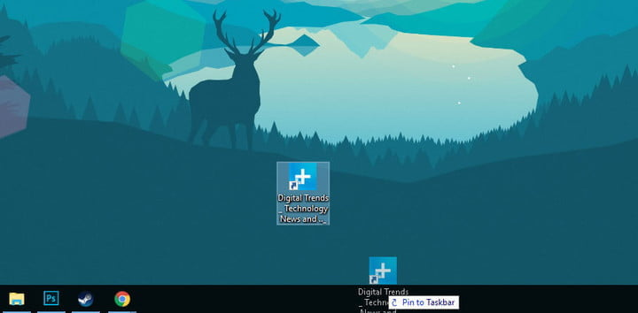 how to pin a website the taskbar pintaskbar02