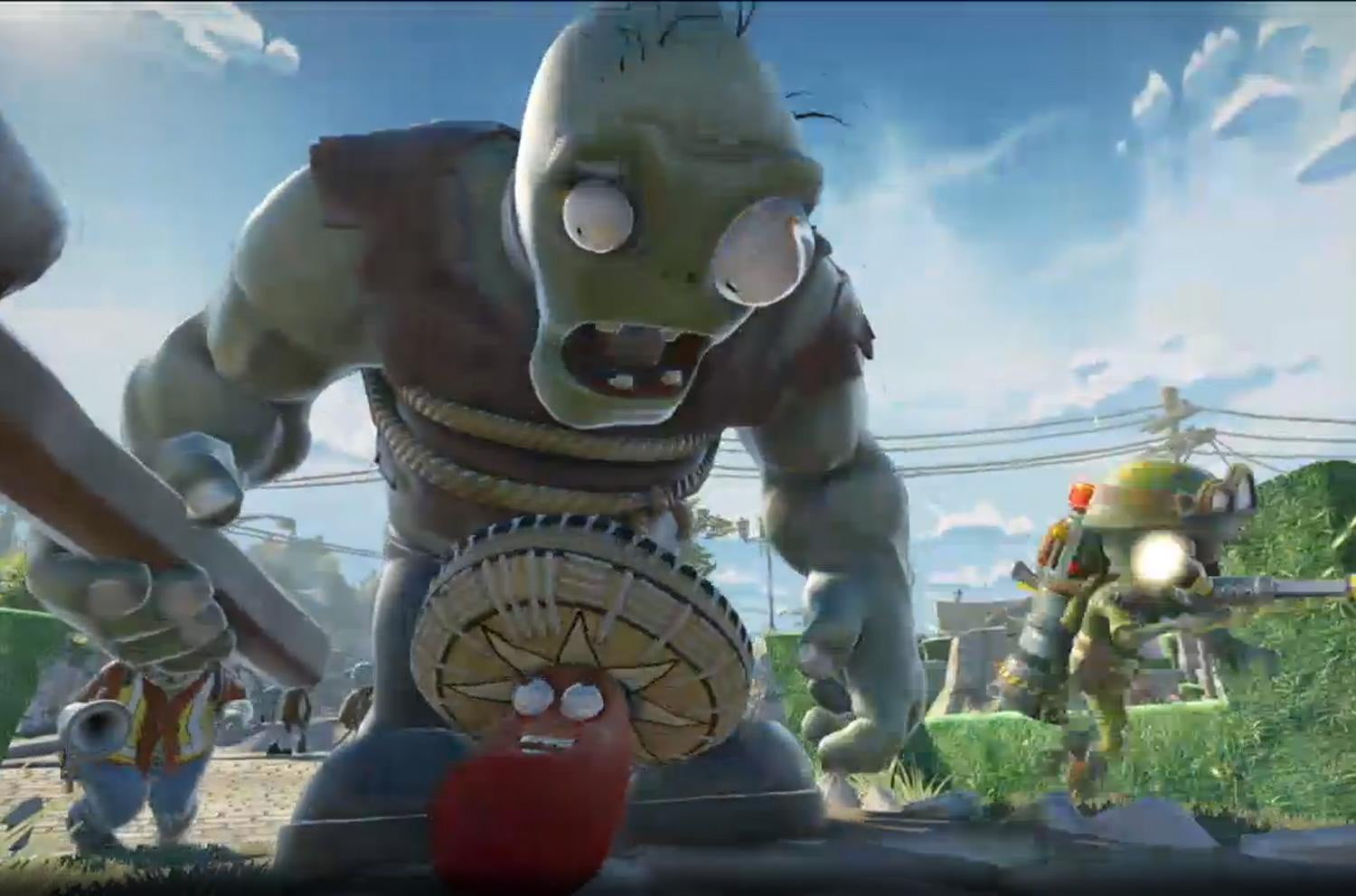 Ea unveils its playstation 4 and xbox one army with 11 - Plants versus zombies garden warfare ...