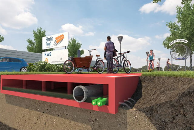 plasticroad plastic paving system piques interest in rotterdam road