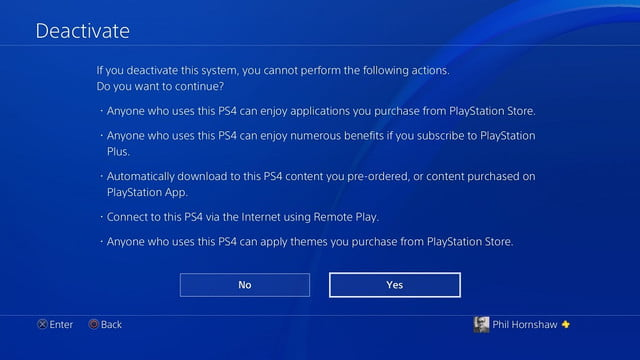 how to factory reset a ps4 playstation 4 deactivation screen