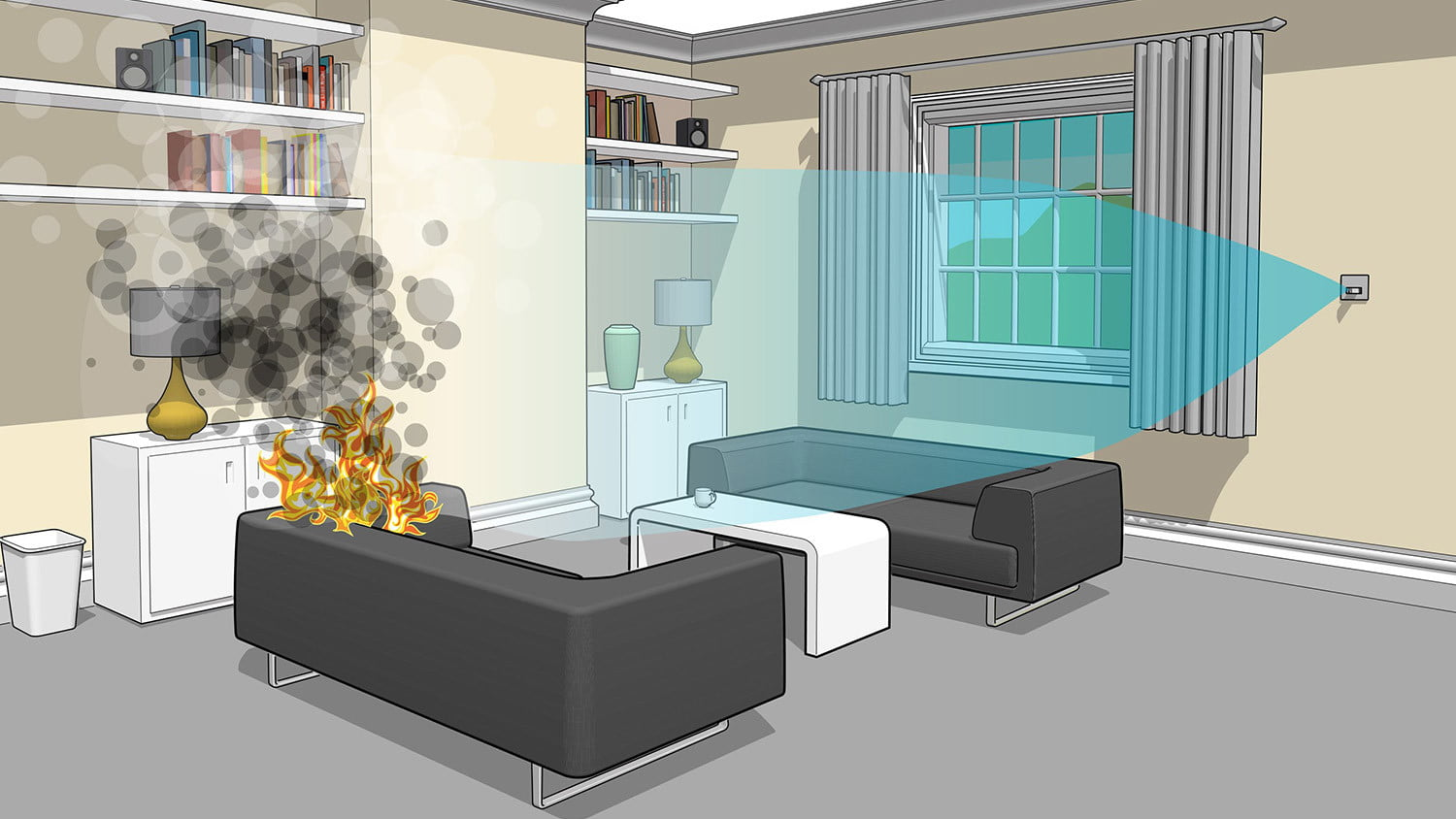 The Automist Uses Less Water Than Sprinklers to Put Out Fires ...