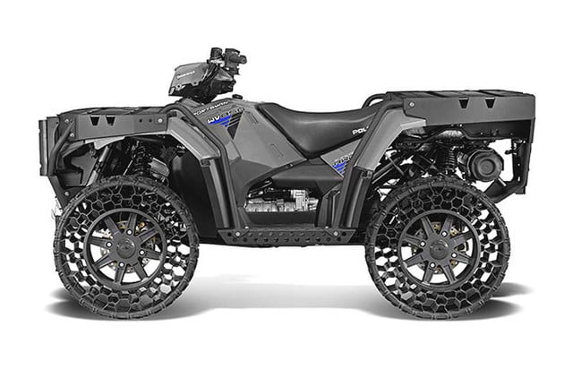 polaris new airless tire can withstand a 50 caliber bullet sportsman wv850 ho
