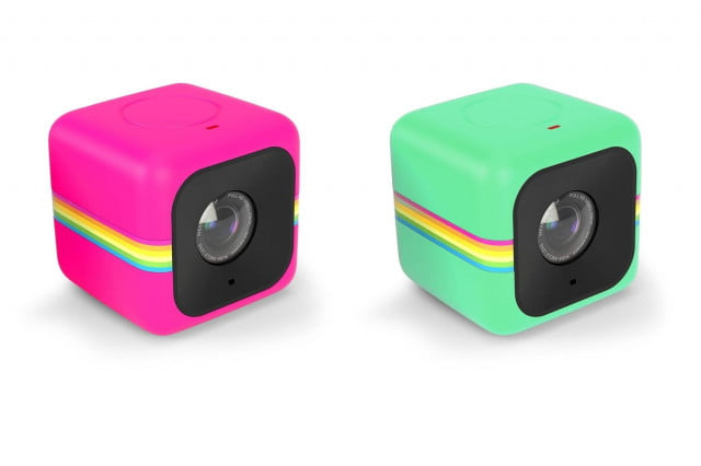 polaroid adds wi fi and smartphone app to its tiny cube action camera pink green