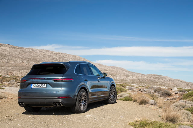 porsche cayenne s review back right angle offset