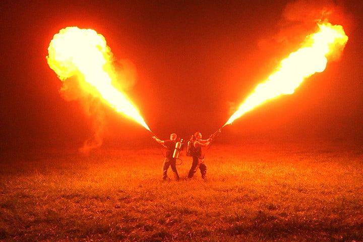 This ridiculous (and completely legal) flamethrower spits out a 65-foot stream of fire