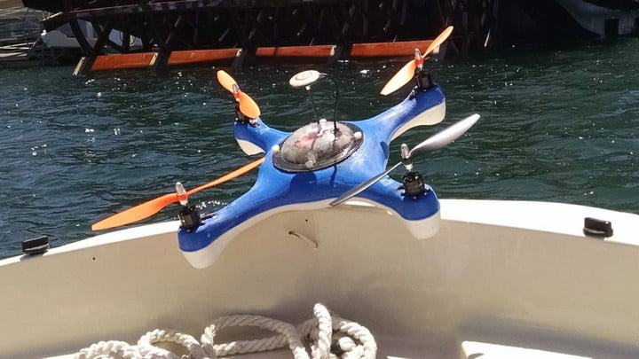 Aguadrone The First Water Proof Drone With Sonar Fish Finder