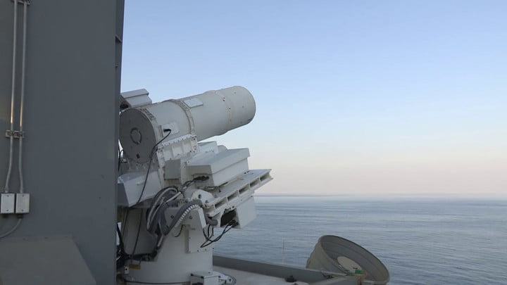 Watch the U.S. Navy test out its ultra-precise laser system in the Persian Gulf