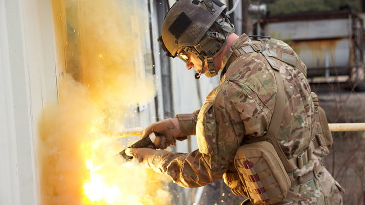 The Air Force has created a thermite torch that obliterates metal locks