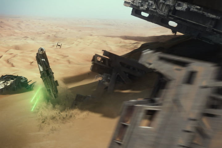Star Wars: The Force Awakens – Industrial Light & Magic – Millennium Falcon chase and desert build VFX