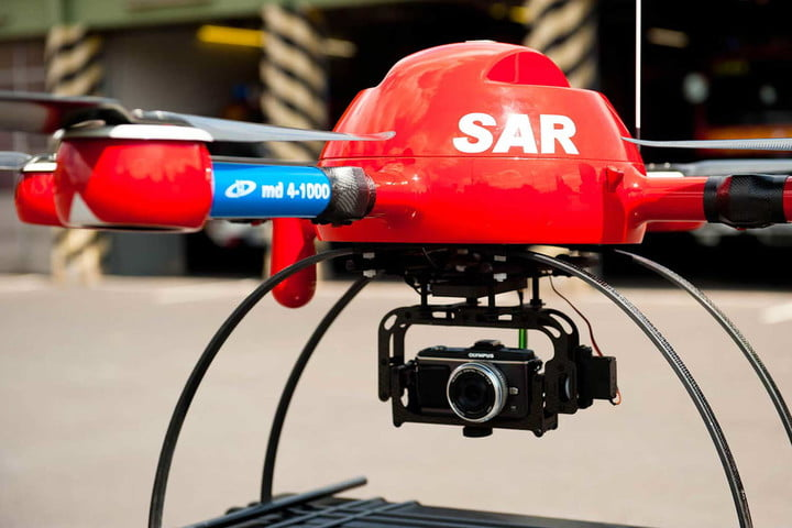a2c86d4fae2 Drones to the rescue! German lifeguards test quadcopters for rescuing  swimmers